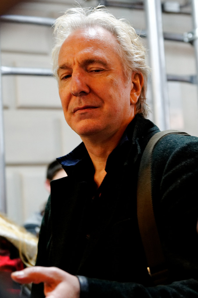 AR BAM JGB 27 | Alan Rickman posing for pictures. Stage