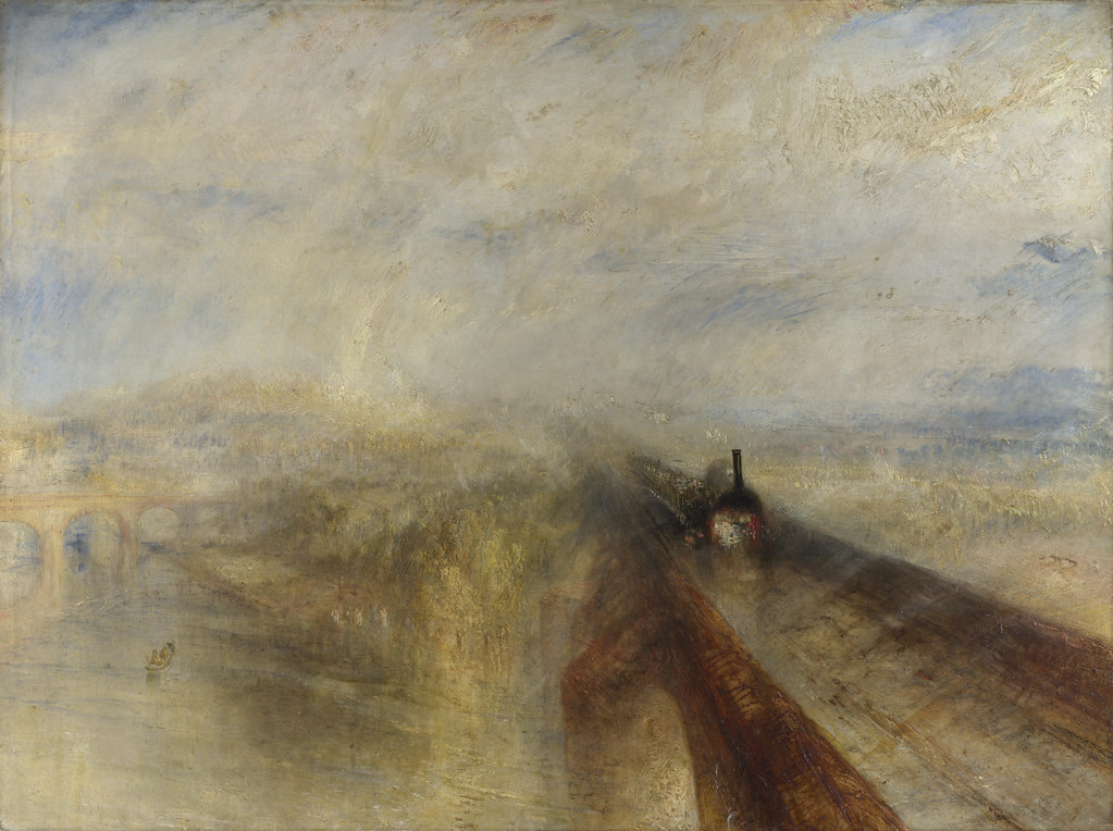 Joseph Mallord William Turner - Rain, Steam, and Speed - The Great Western Railway [1844]