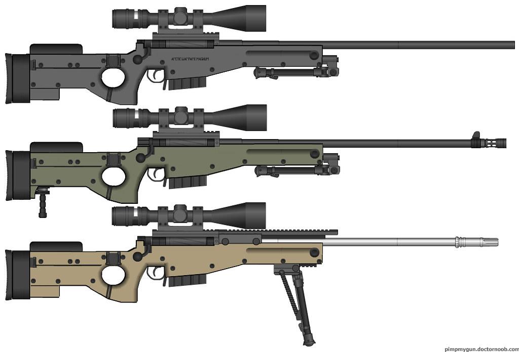 AWM-L96A1-Mk13Mod5 | 1 : AWM , 2 : L96A1 , 3 : Mk13 Mod 5   … | Flickr