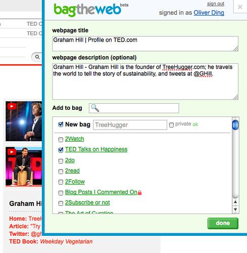 Multi-bagging bookmarklet - Step 2