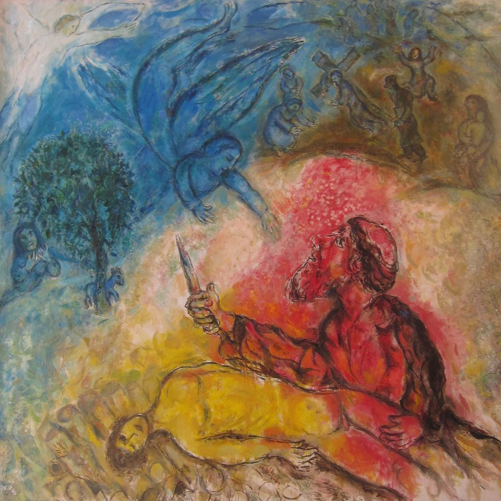 The sacrifice of Isaac - collection of Marc Chagall Museum… | Flickr