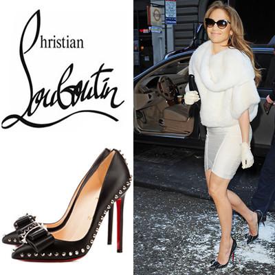new concept 54f62 cd415 Jennifer Lopez-Christian Louboutin-Black Pumps Lucifer Bow ...