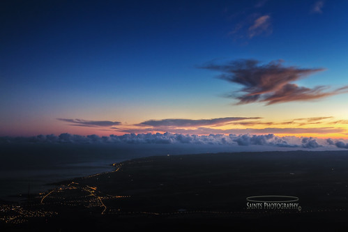 ocean morning mountains night sunrise hawaii oahu shoreline northshore hi seashore wailua hdr waianae mntkaala