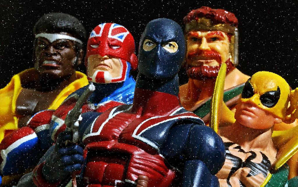 Luke Cage, Captain Britain, Union Jack, Hercules & Iron Fi