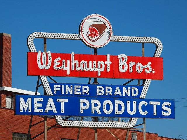 Weyhaupt Bros. Finer Brand Meat Products Vintage Neon Sign - Belleville, IL_P3101749