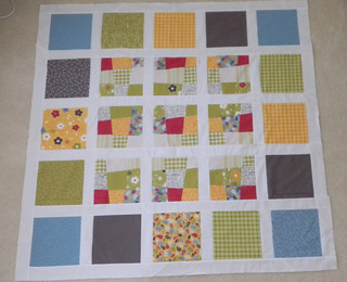 Wonky Nine Patch quilt