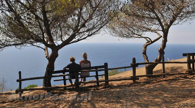 Enjoying the view over the Ligurian Sea