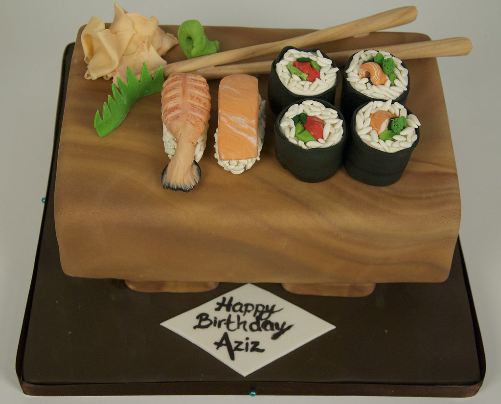 Cool Sushi Birthday Cake Toronto An 8 Serving Cake To Look Like Flickr Personalised Birthday Cards Veneteletsinfo