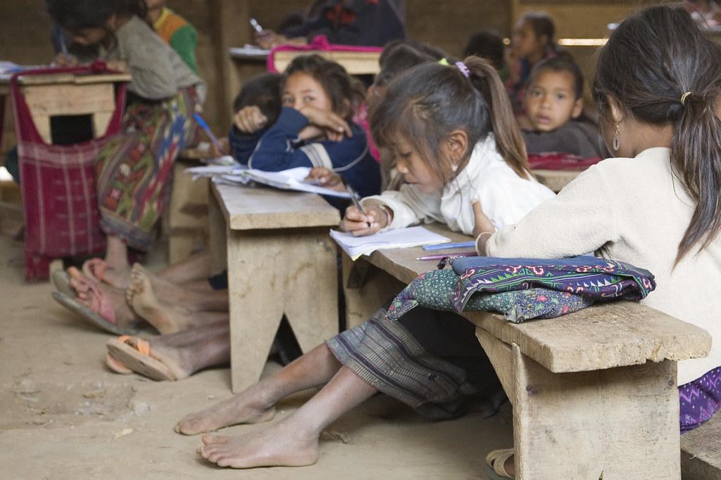 School Girl Barefoot