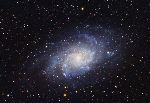 triangulum galaxy m33 m033 dslr driehoek nevel ngc598 universe space public domain free