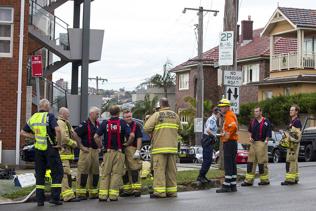 Aftermath of a fire, Manly, 22/10/15