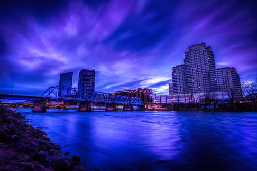 city morning blue canon early downtown purple michigan grandrapids simplesunrise