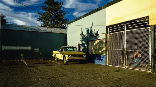 color colour sunset dodge ukiah california streetphotography truck smalltown urbanideal tesp colorstreet