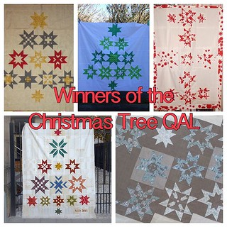 Congratulation to all winners of #christmastreeqal ... Maria @marias.quiltbox was so generous to Share her First Prize with 2 others - You Are so cool, Maria!!!