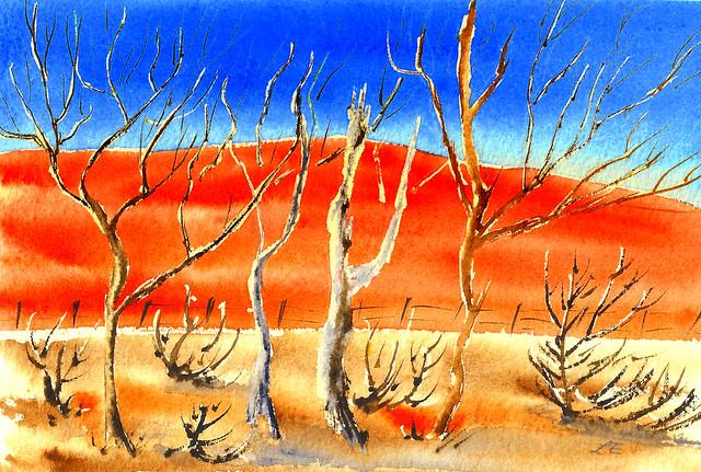 Australian Red Earth - Watercolour