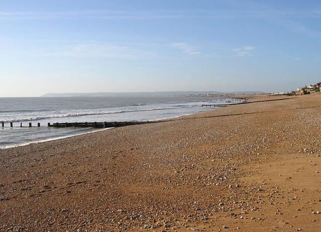 The beach at Cooden Beach