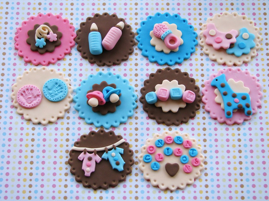 Twins Baby Shower Cupcake Toppers Lynlee Flickr