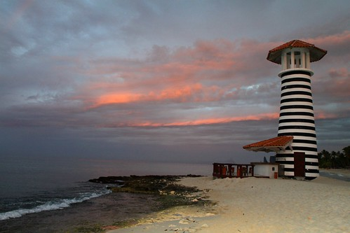 lighthouse beach sunrise dominicanrepublic