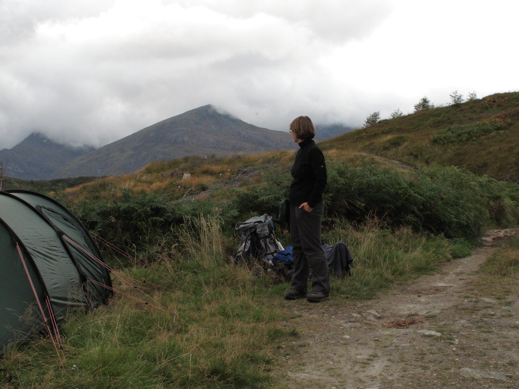 Campsite on our way to Glen Affric