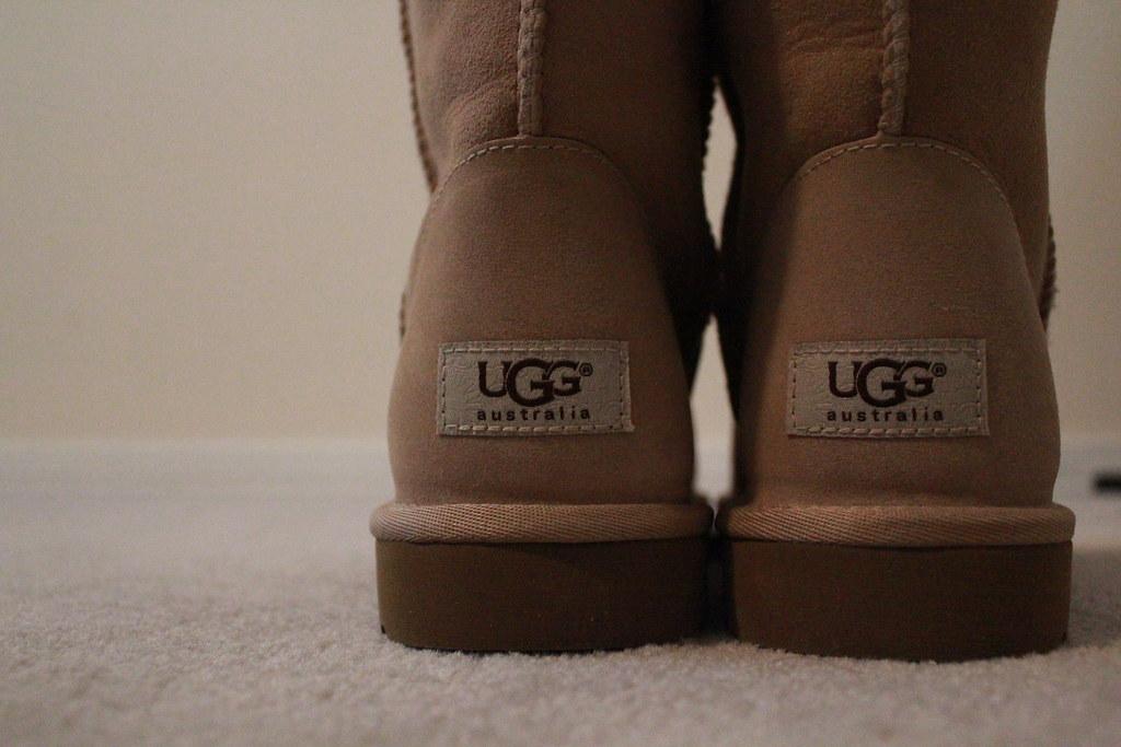 Ugg australia kids nude shearling boots