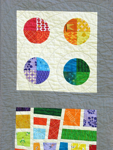 Closeup of Pieced Circles | by KCQuilts