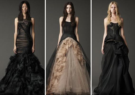 Vera Wang Black Wedding Dress   Juicy