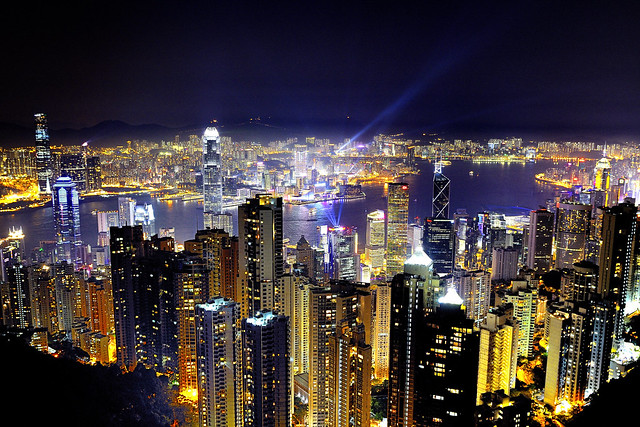 Hong Kong by night - View from the Peak