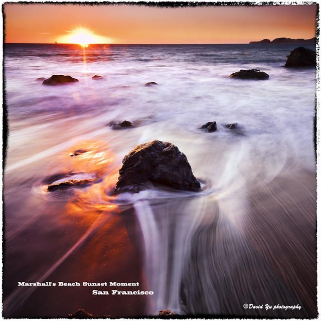 Marshall's Beach Sunset Moment San Francisco