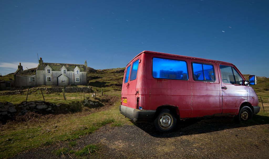Derelict House and Derelict Van by The Flying Monk