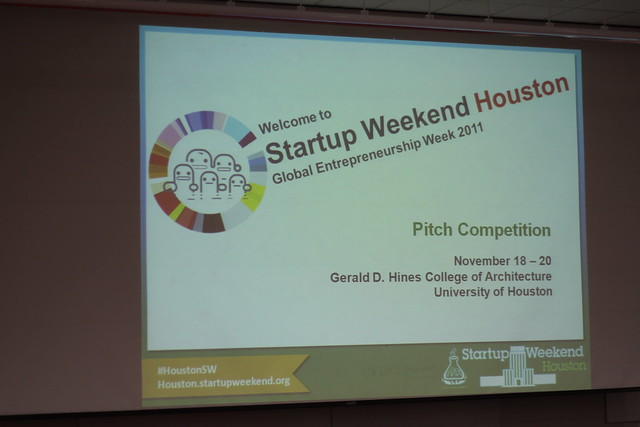 Startup Weekend Houston - Sunday Evening Pitch Event (Nov 20, 2011)
