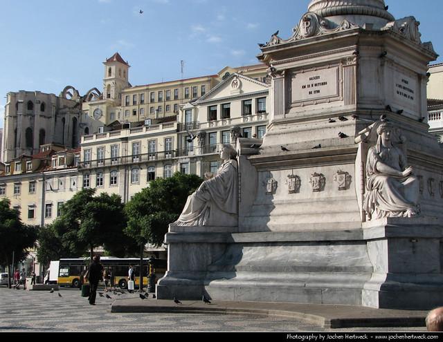 Praca de Dom Pedro IV, Lisbon, Portugal