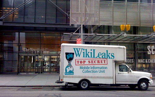 Wikileaks Truck at The New York Times | by Wikileaks Mobile Information Collection Unit