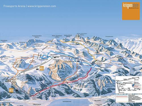 Krippenstein - mapa sjezdovek