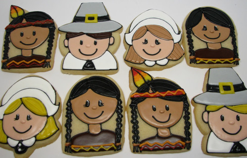 Pilgrims and Indians | by Karen's Cookies