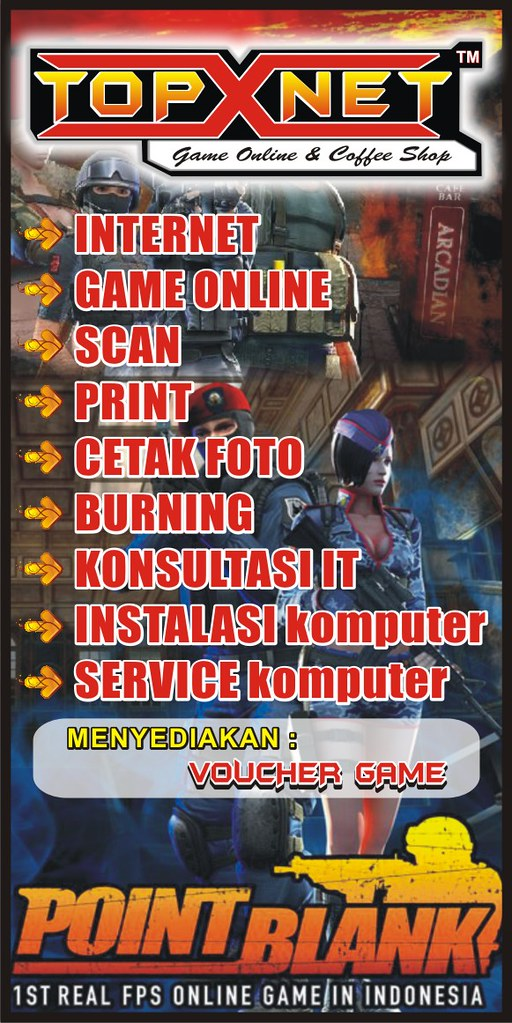 Banner Warnet Game Online By Topik Kristanto