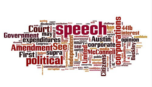 Citizens United v Federal Elections Commission opinion wordle | by llaannaa