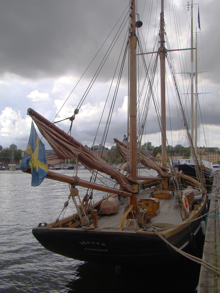 Ketch-rigged sailing trawler  Galley shipyard, Galärvarvet
