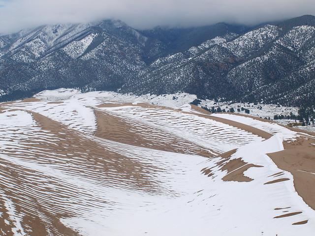 SHADOWS SNOW AND SAND