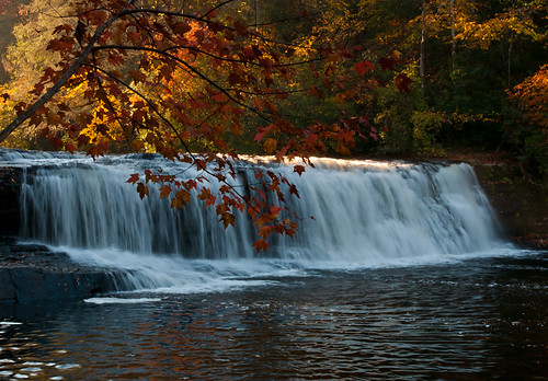 fall sunrise waterfall northcarolina hookerfallsdupontstateforest