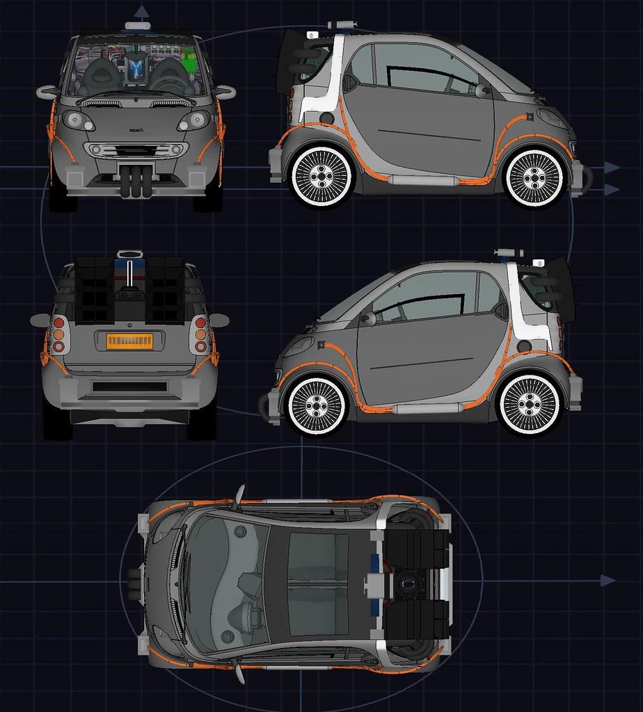 Back to the Future Smart Car : Blueprints   Blueprints