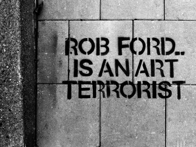 Rob Ford-related graffiti