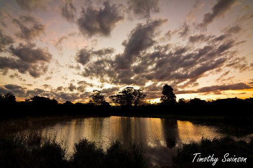 sunset clouds reflections australia queensland toowoomba