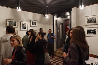 """Vernissage de l'expo collective du Centre d'Animation Rébeval """"Promiscuité dans les transports en commun"""" à l'Espace B Villette"""
