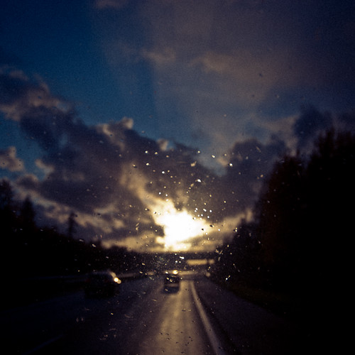 street sunset urban sun cars home car rain finland square dawn nikon highway europa driving dusk autobahn were d200 kraftwerk 1x1 2011 loops3npictures