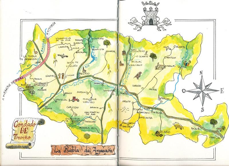 Condado De Treviño Mapa.Cuaderno De Trevino 01 En Mi Periplo Por El Condado De Tre