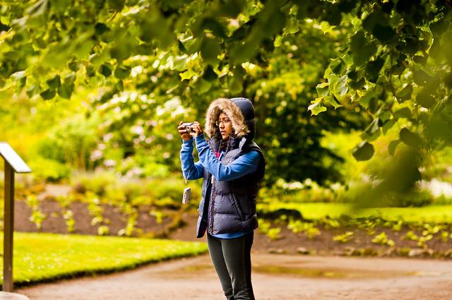 Cawdor Castle Grounds - Anna framing a shot