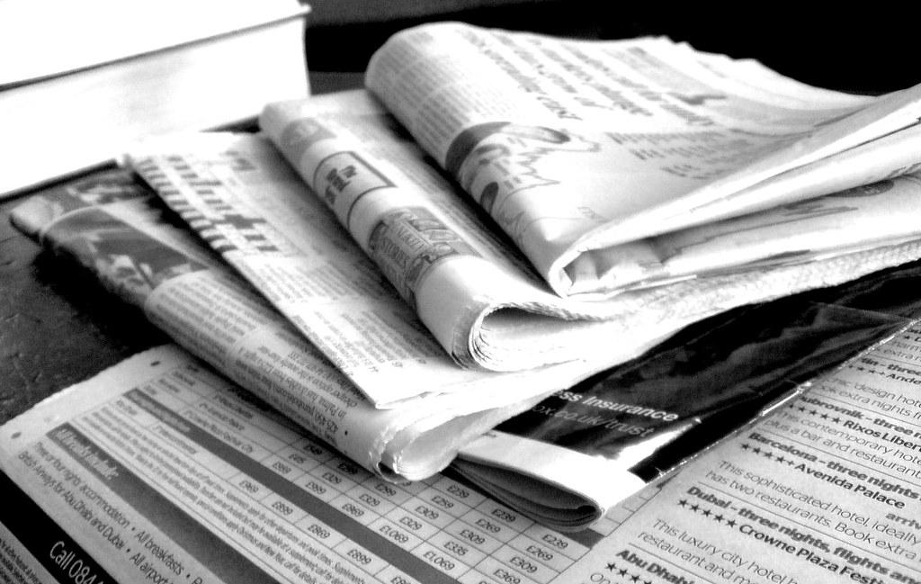 ... Newspapers B&W (3) - by NS Newsflash