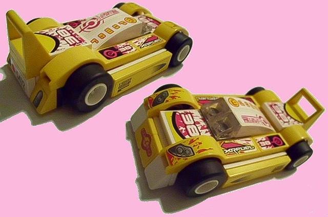 All-stickered racecar