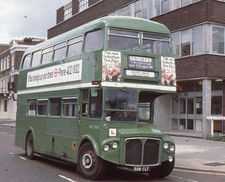 London Transport . RMC1508 508CLT . Chiswick Works , London . 06th-June-1979 .