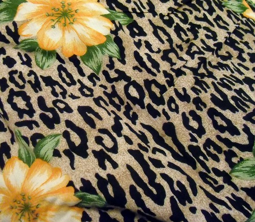 leopard/floral rayon | by lladybird